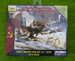 "SOVIET MACHINE GUN NSV 12.7 ""UTES"" with crew 1/72 Zvezda Hot War set 7411"