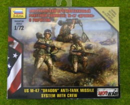 "U.S. M47  ""DRAGON"" ANTI-TANK MISSILE SYSTEM WITH CREW 1/72 Zvezda Hot War set 7415"
