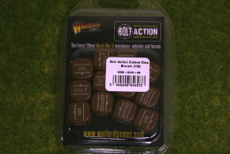 Bolt Action ORDERS DICE SET of 12 – BROWN