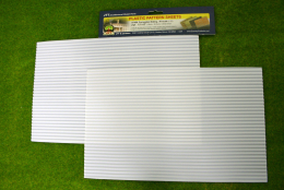 CORRUGATED SIDING PACK OF 2 SHEETS #1 scale ( 1/32th Scale) LS97404
