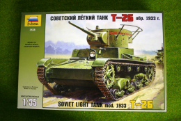 WWII SOVIET LIGHT TANK Mod.1933 T-26  1/35 Zvezda set 3538