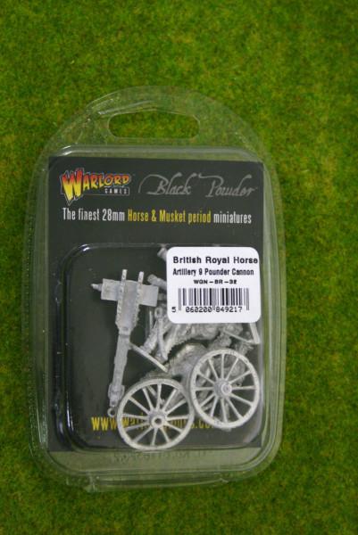 NAPOLEONIC BRITISH ROYAL HORSE ARTILLERY 9-PDR CANNON Black Powder 28mm