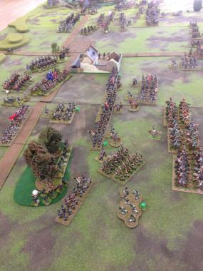 Fighting around La Haie Sainte