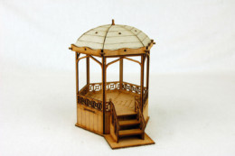 Gas Lamp Alley VICTORIAN BANDSTAND –  G065 MDF scale Building 28mm