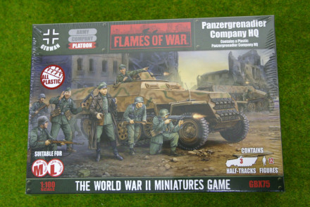 Flames of War GERMAN PANZERGRENADIER COMPANY HQ 15mm GBX75