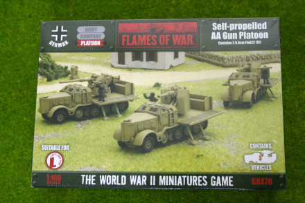Flames of War Anti-Aircraft Gun Platoon 8.8cm FlaK37 15mm GBX78