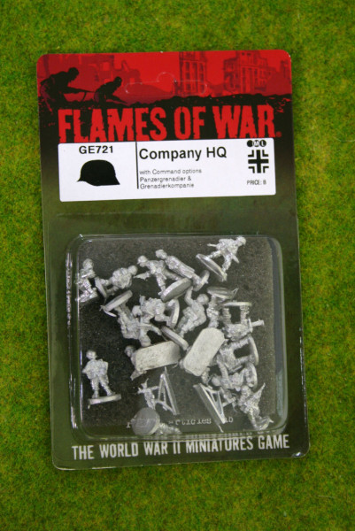 Flames of War GERMAN COMPANY HQ GE721