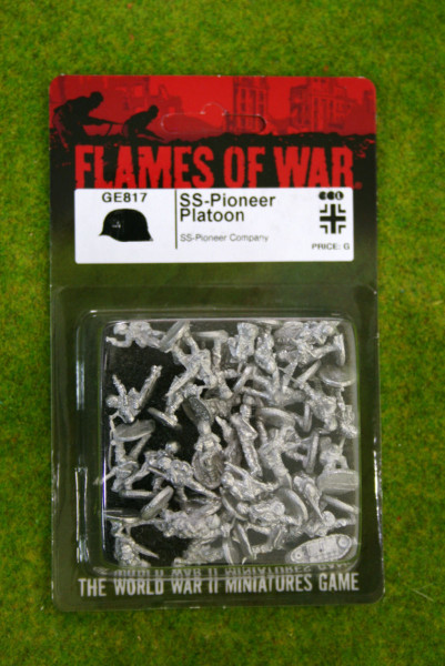 Flames of War GERMAN SS- PIONEER PLATOON 15mm GE817
