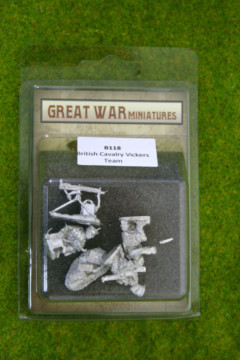 GREAT WAR MINIATURES British Cavalry Vickers Team 1914 Early War B118 28mm