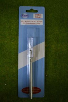 Expo Tools Aluminum Scalpel/Craft Knife handle #1. 8mm diameter 73542
