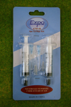Expo Tools 6 PIECE SYRINGE APPLICATOR KIT A74310
