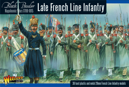 LATE FRENCH LINE INFANTRY Warlord Games Black Powder Napoleonic 28mm