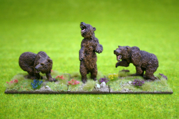 CAVE BEARS – SET OF THREE DeeZee Miniatures 28mm Wargames