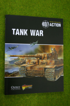 BOLT ACTION TANK WAR Supplement World War Two wargames rules