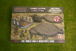 Flames of War LARGE CRATERS and RUINED HOUSE 15mm BB184