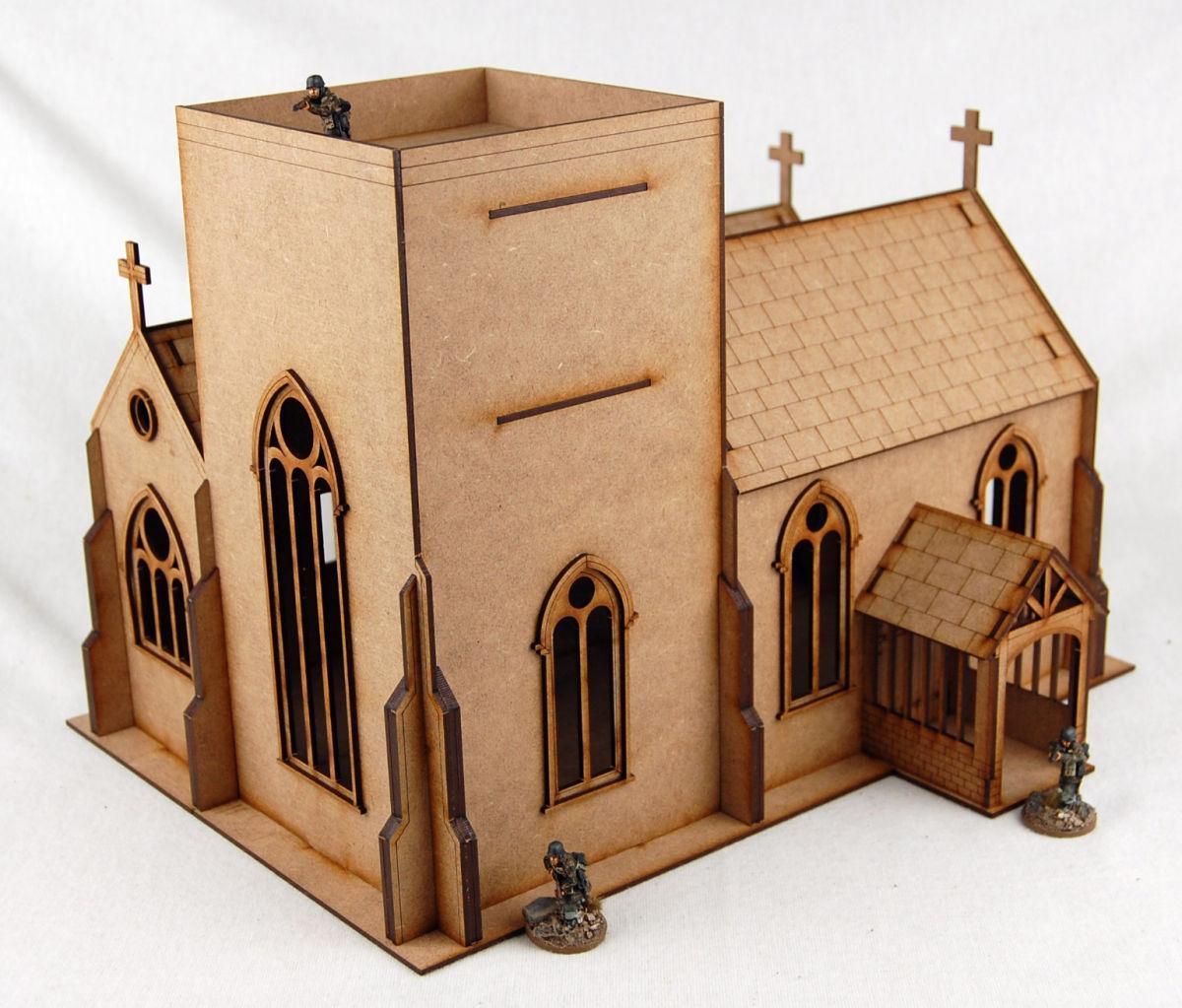 WW EUROPE OLD ENGLISH CHURCH 28mm Laser cut MDF kit H002