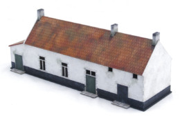 LA BELLE ALLIANCE WATERLOO 1815 28mm MDF Building H003 Sarissa Precision