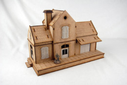 WW EUROPE RAILWAY STATION 28mm Laser cut MDF kit N036