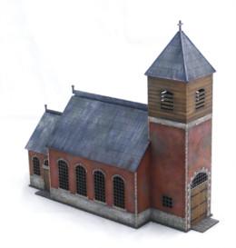 PLANCENOIT CHURCH WATERLOO 1815 28mm Laser cut MDF Building H004