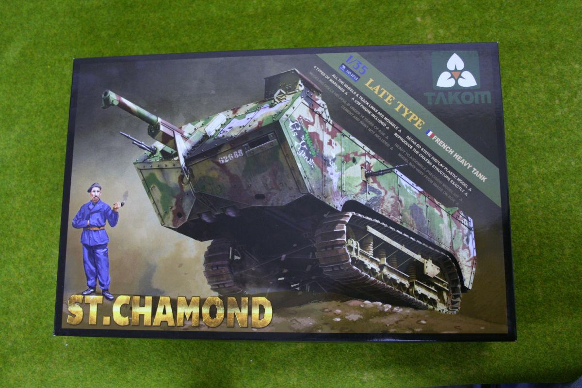 Takom ST. CHAMOND  WW1 French Heavy Tank 1/35 Scale kit 2012