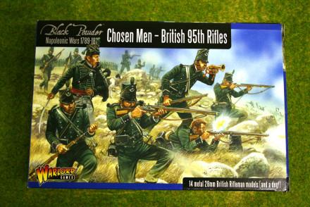 CHOSEN MEN – British 95th Rifles Warlord Games Black Powder Napoleonic 28mm