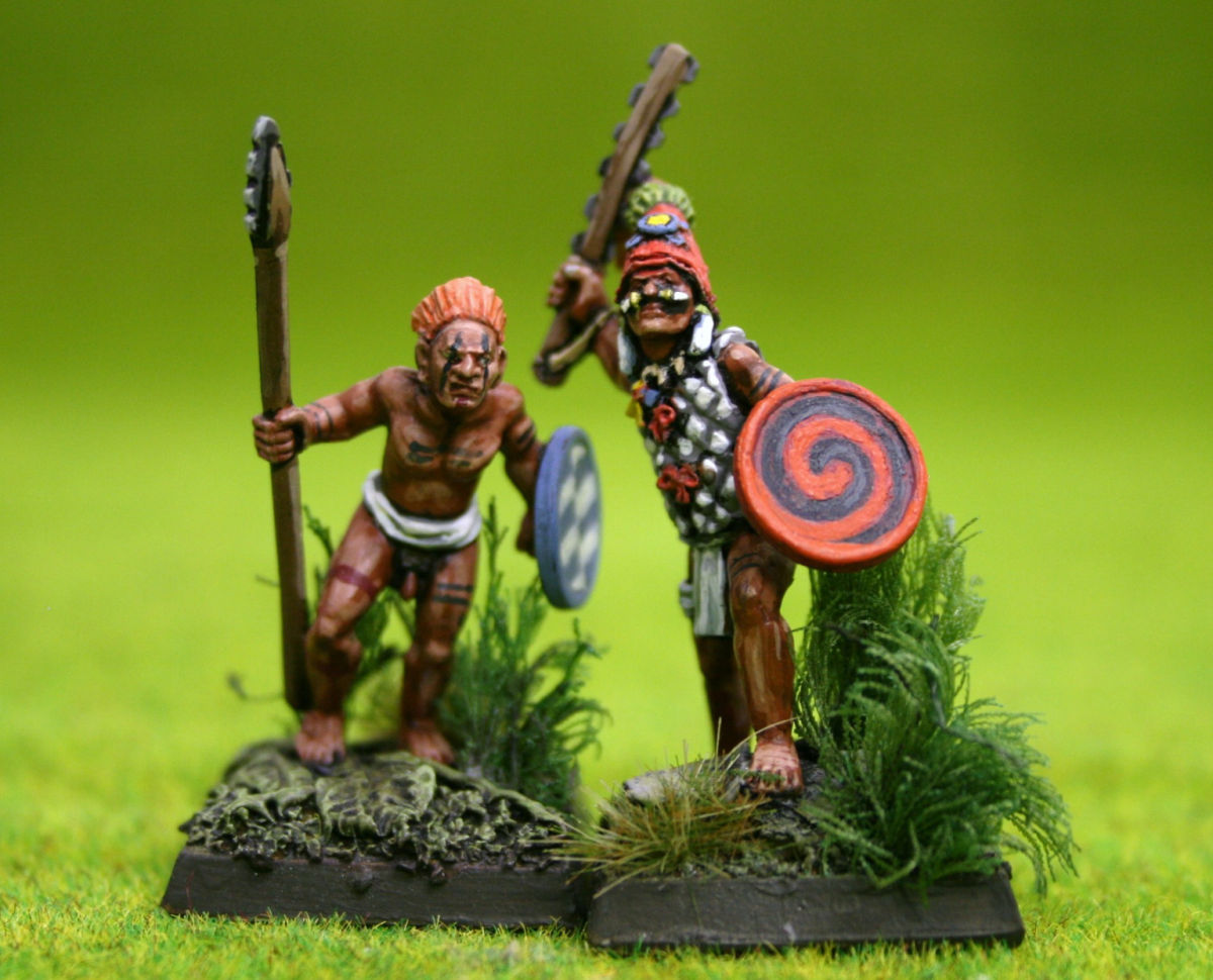 Lucid Eye JAGUAR WARRIOR CHIEF & SON – Savage Core Tribe SCT020 28mm scale