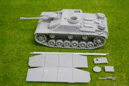 1/48 scale – 28mm WW2 GERMAN StuG.III Ausf. G w. ZIMMERIT 28mm Blitzkrieg miniatures