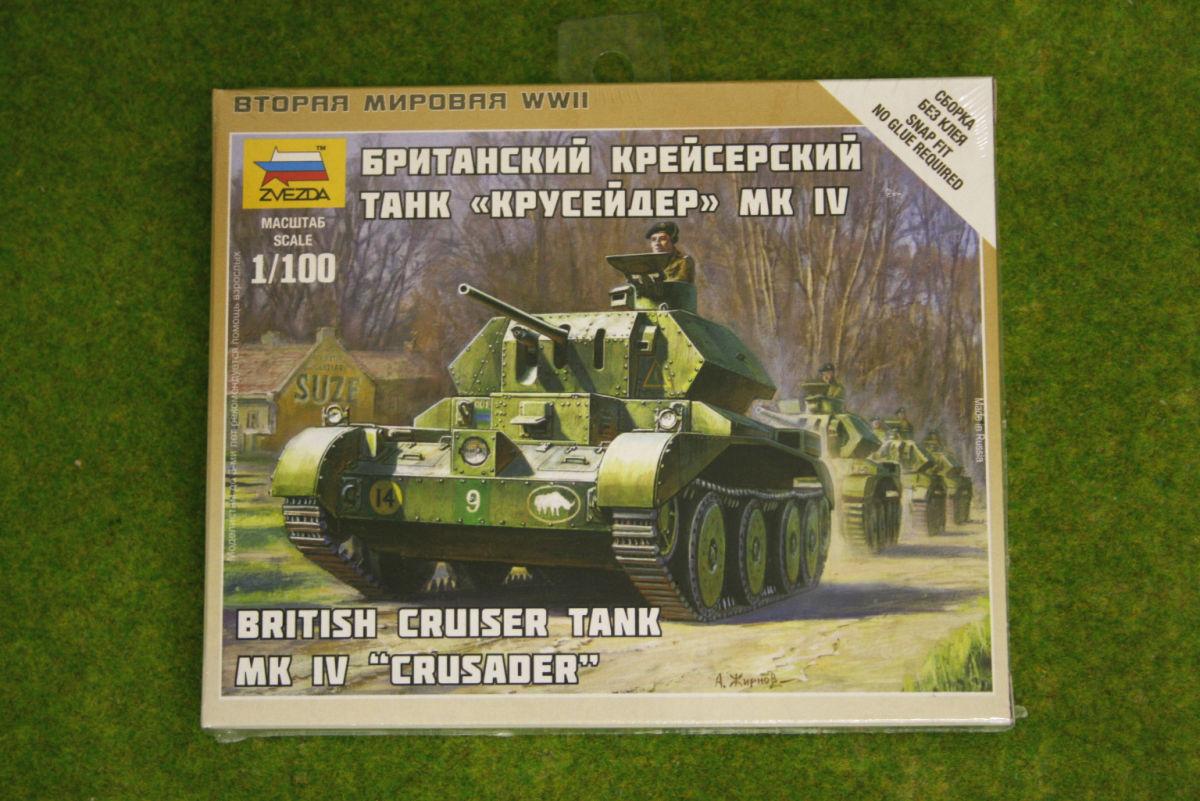 Zvezda WW2 BRITISH CRUSADER MK IV 1/100 scale 6227