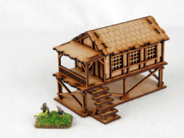 Far East or Jungle SMALL VILLAGE HOUSE 15mm Laser cut MDF K503