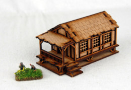 Far East or Jungle SMALL VILLAGE HOUSE LOW 15mm MDF Sarissa Precision K506