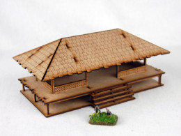 Far East or Jungle COMMUNITY HOUSE 15mm MDF Sarissa Precision K509