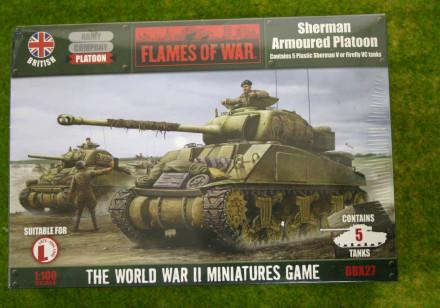 Flames of War British SHERMAN ARMOURED Platoon PLASTIC 15mm BBX27