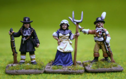Trent Miniatures CHOUANS – OFFICER, PRIEST et UNE DAME FORMIDABLE! FCHOU02