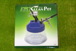 AB610 3 in 1 CLEAN POT for Airbrush EXPO TOOLS