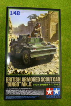 Tamiya BRITISH ARMOURED SCOUT CAR DINGO MKII 1/48 Scale Kit 32581