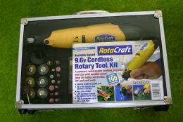 ROTACRAFT 9.6v CORDLESS ROTARY TOOL KIT & DRILL SET 19502