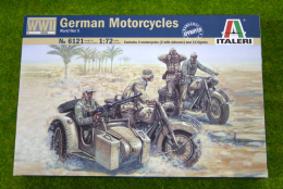 GERMAN MOTORCYCLES WWII 1/72 Scale Italeri 6121