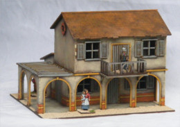 Old West Cowboy Building Hacienda A009 25mm, 28mm Terrain