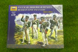 Zvezda RUSSIAN LINE INFANTRY 1812 – 1814 kit 6808