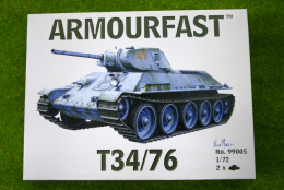 Armourfast T34/76 x 2 WWII Tank 1/72 set 99005