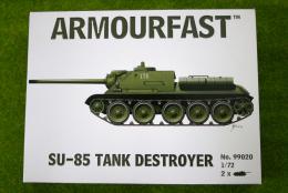 Armourfast SU-85 x 2 WWII Russian Tank Destroyer 1/72 set 99020