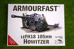 Armourfast LEFH 18 Howitzer 105mm  x 2 WWII 1/72 89001