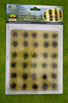FLOWER BUSHES 30 per pack JTT Scenery HO/OO Scale LS95581