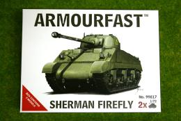 Armourfast SHERMAN FIREFLY x 2 WWII Tank 1/72 99017