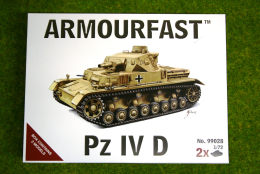 Armourfast PANZER IV AUSF D  x 2 WWII Tank 1/72  99028