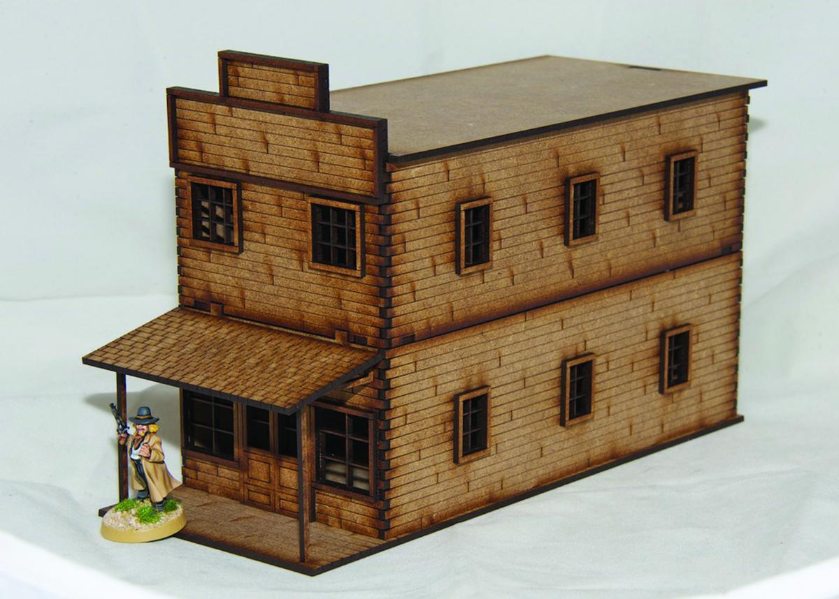 Old West Cowboy Building 1large 25mm 28mm Terrain D031
