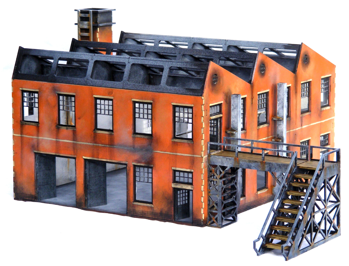 Ww2 Factory Large I501 15mm Building Terrain Flames Of War