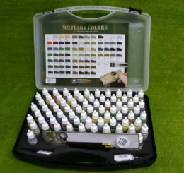 Vallejo MILITARY COLOURS PAINTING SET  Model Colour 74 bottle set 70173