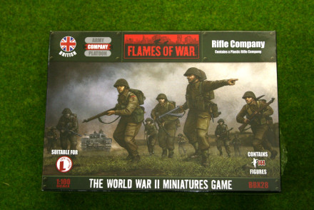 Flames of War British Rifle Company PLASTIC 15mm BBX28