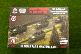 Flames of War M5 Half-track Transport Platoon PLASTIC 15mm BBX29